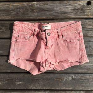 💥5/$25 Garage Faded Pink Jean Shorts